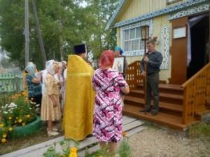 Крестный ход вокруг Молитвенного дома во имя пророка Илии